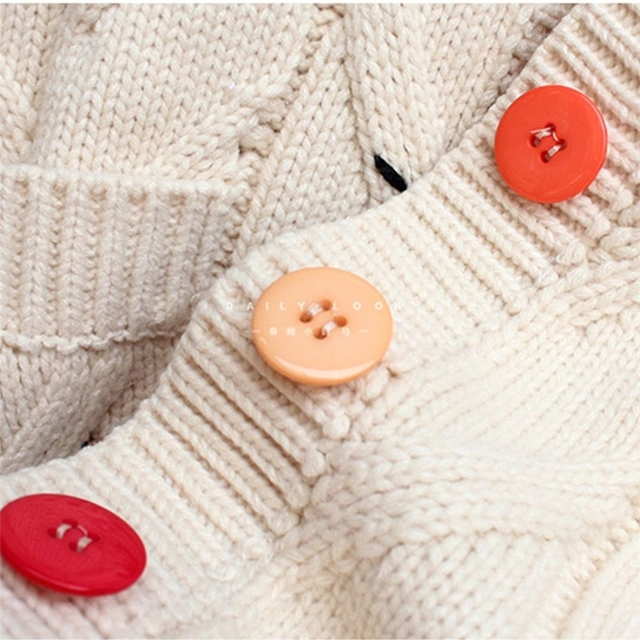 2020 Autumn Winter Women Cardigan Warm Knitted Sweater Jacket Pocket Embroidery Fashion Knit Cardigans Coat Lady Loose Sweaters 6