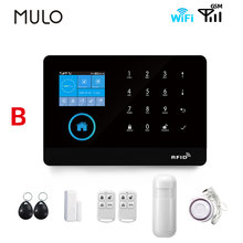 MULO New Wifi GSM Alarm System 433MHz Smart Life with Motion Detector Remote Control 9 Languages Wireless Home