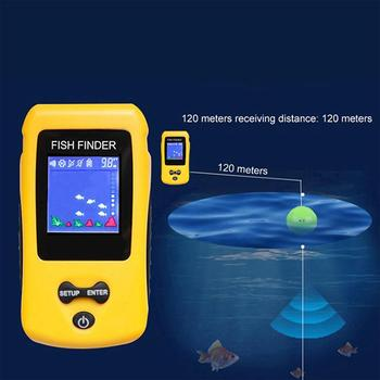 Colorful Wireless Fish Finder Sonar Sensor Transducer Depth Echo Sounder Recharged Battery Fish Finder