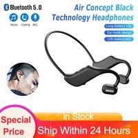 TWS Drahtlose Bluetooth Knochen Leitung Kopfhörer Stereo Surround Musik Headset Wasserdichte Sport Gaming Ohrhörer Mit Mikrofon