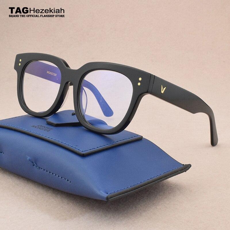 Retro Brand Glasses Frame Women 2019 Round Glasses Frame Men Myopia Prescription Spectacle Frames Women's Eyeglasses Frame Men's