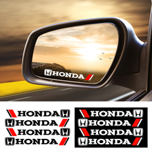 4PCS Car Styling Car Door Handle Stickers Decoration Stickers Decal For Honda Civic Varadero