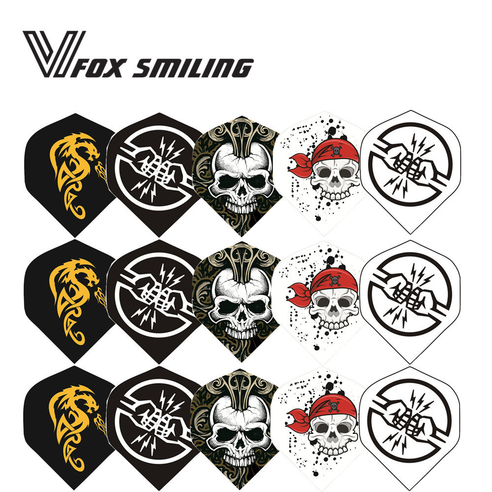 Fox Smiling 6PCS Cool Darts Flights Wing Mixed Style For Professional Darts Wing Tail Indoor Games