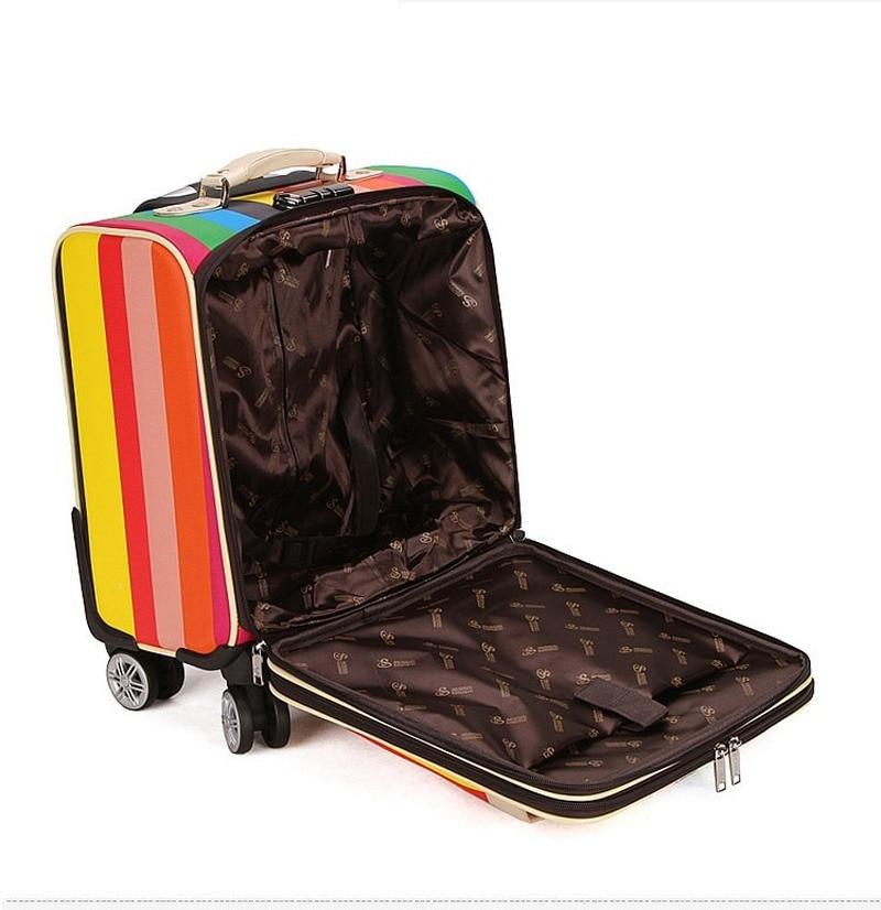 Letrend 3D Красочные вертушки для багажа, женские чемоданы розового золота, колесики, каюта, тележка, дорожная сумка, 20/24 дюймов, переноска на баг... - 3
