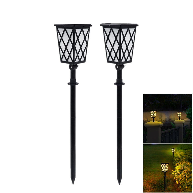 Garden Solar Light Flickering Flames Torches Solar Lamp Auto Security Lights For Path Porch Outdoor Lighting|Solar Lamps| |  - title=