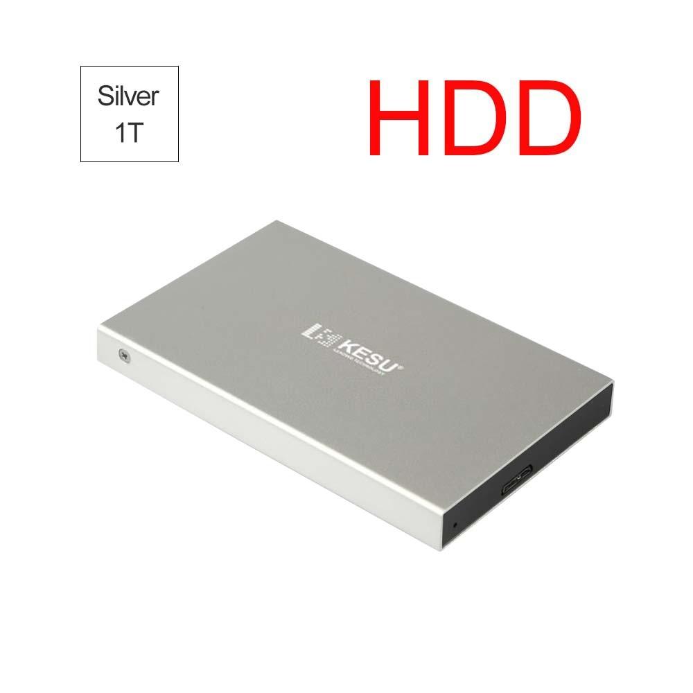 Portable HDD External Hard Drive USB 3.0 120G.160G.250G.320G.500G HDD External HD Hard Disk For PC Black Sliver