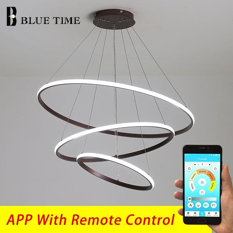 Современный светодиодный светильник, люстры для гостиной, столовой, спальни, белые круглые кольца, освещение в помещении, подвесные лампы, люстра|Люстры|   | АлиЭкспресс
