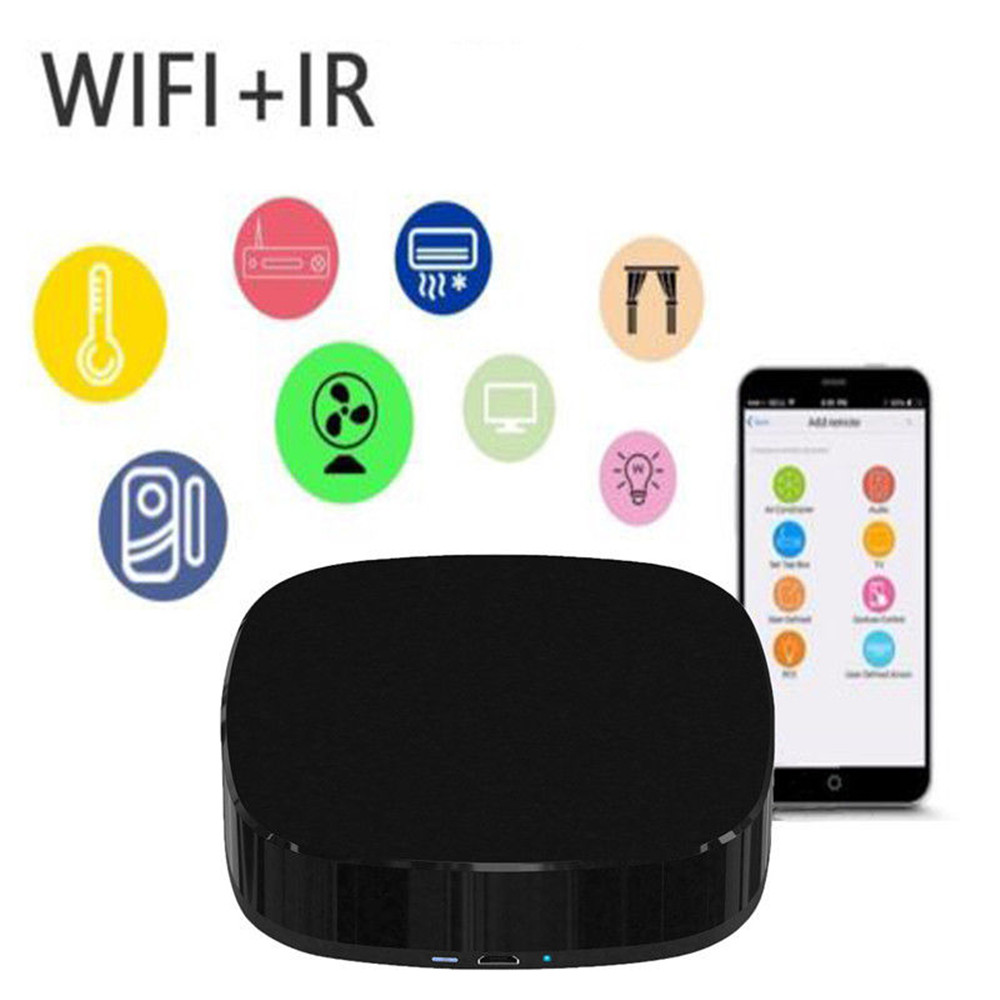 2019 Mini Smart WiFi Remote Control Universal Wireless IR Infrared Intellegent Remote Controller Via Phone Smart Home Automation