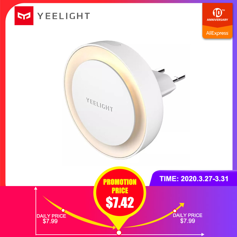 YEELIGHT Smart Night Light Low Power Consumption Light Sensor Intelligent Recognition Energy Saving Light International Version