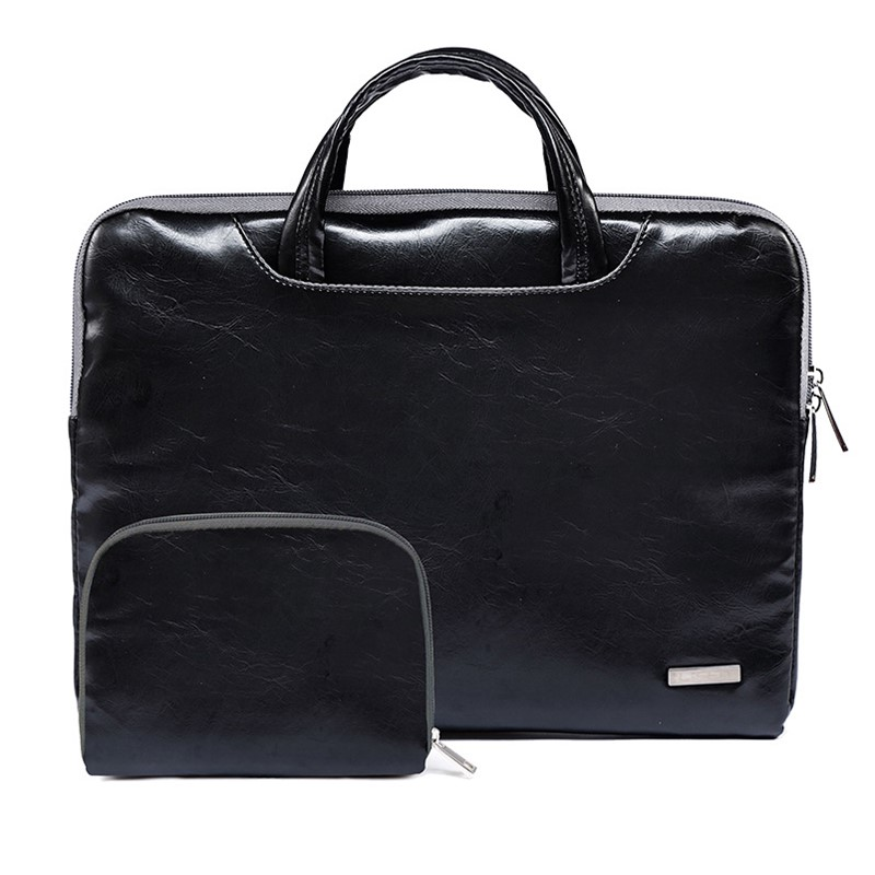 Waterproof PU Leather Laptop Bag Case Notebook Bag For Women 11 13 15.6 Inch For MacBook Air 13 Pro 15.4 Leather Bag For Men