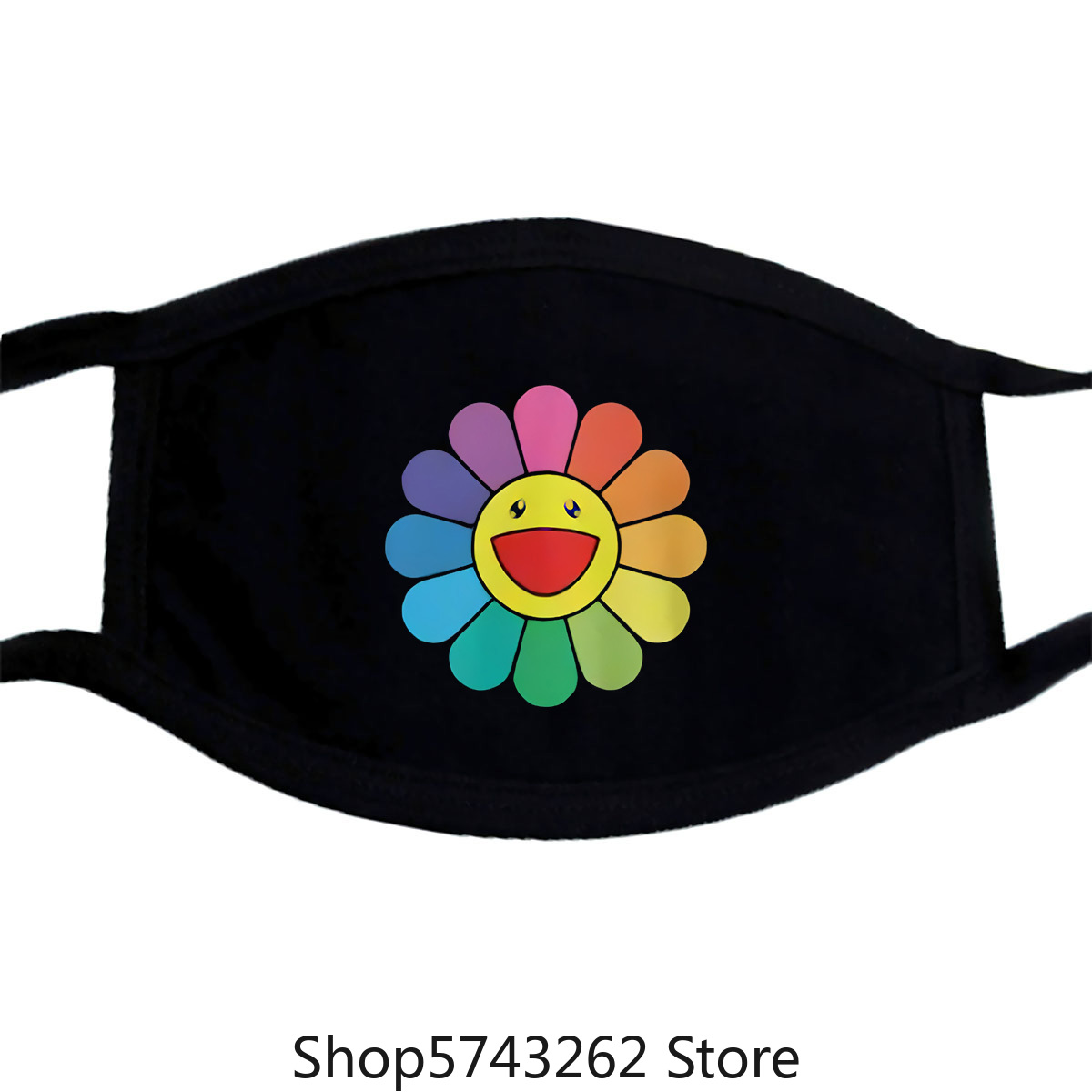 Takashi Murakami Happy Flower Mask Unisex Murakami Mask For Men And Women Washable Reusable Mask With