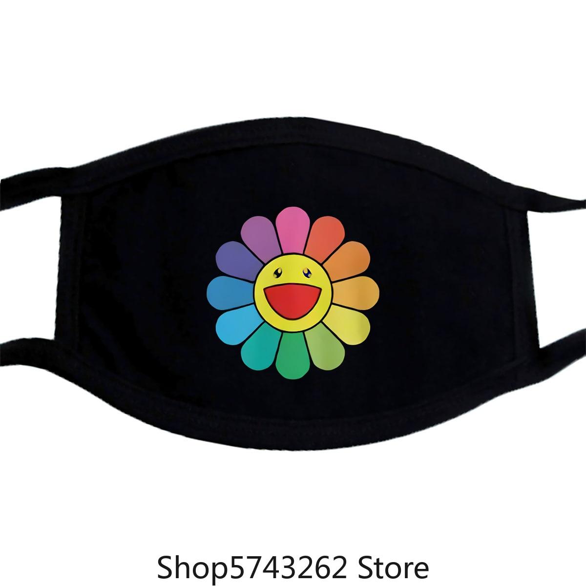 Takashi Murakami Happy Flower Mask Unisex Murakami Mask For Men And Women Washable Reusable Mask With