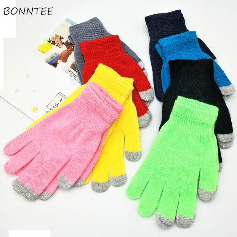 Gloves Mittens Women Touch Screen Thicker High Quality Hot Sale Stretch Elastic Womens Stylish Finger Glove Fashionable Chic