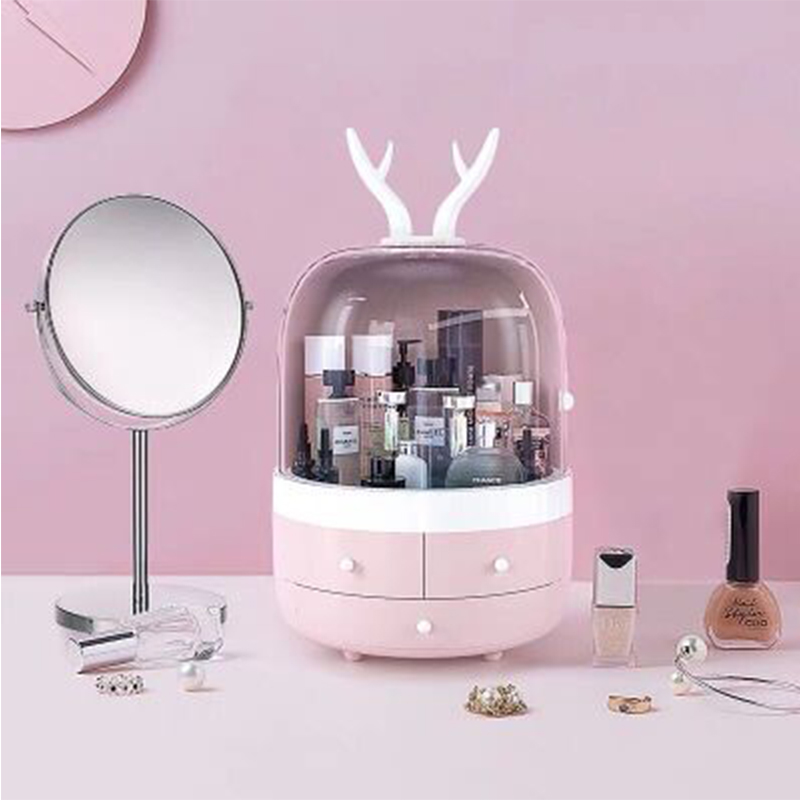 Acrylic Cosmetic Box Waterproof Transparent Makeup Organizer Hand-held Cosmetic Jewelry Bag Drawer Home Storage Boxs