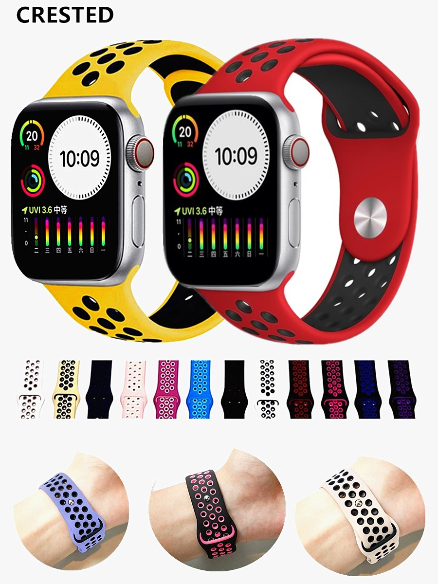 Silicone-Strap Apple-Watch-Band Bracelet Apple Watch-Series 44mm for 44-Mm/40mm 42mm/38mm