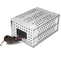 Dobrável grande espaço contínuo mousetrap casa anti-escape roedor dispositivo ao ar livre de alta eficiência captura cobra ferramenta