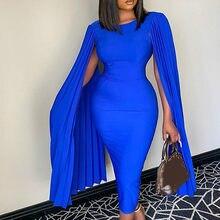 Kadın Bodycon elbise saat kollu pilili O boyun parti noel fırsat olay elastik paket kalça kadın moda elbiseler yeni 2021