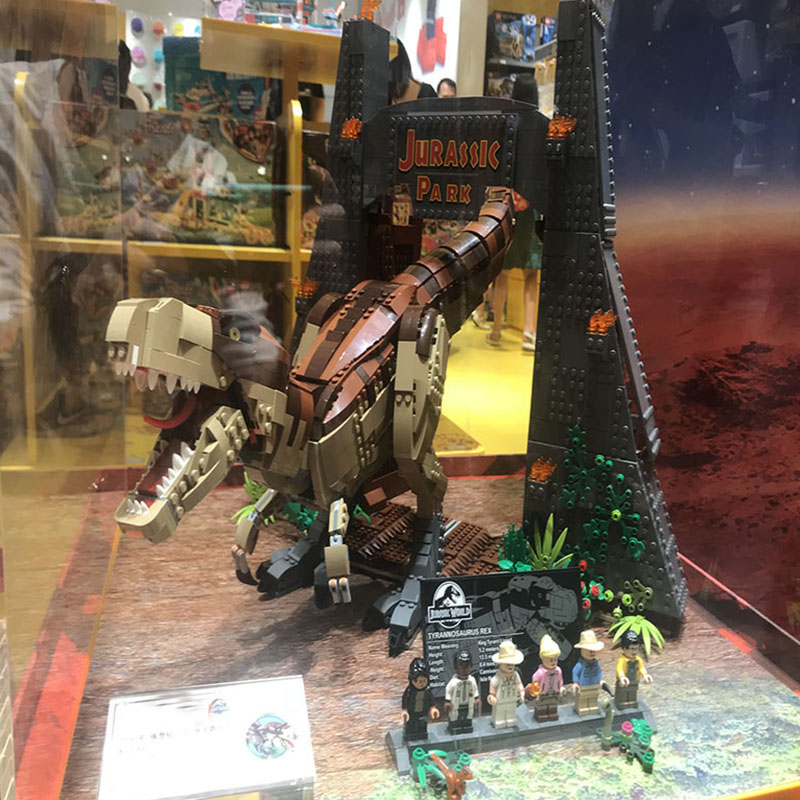 Bela 11338 3156Pcs Jurassic Dinosaur World Park movie T. rex Rampage Building Blocks Bricks Kids Toys Christmas gift 75936 1