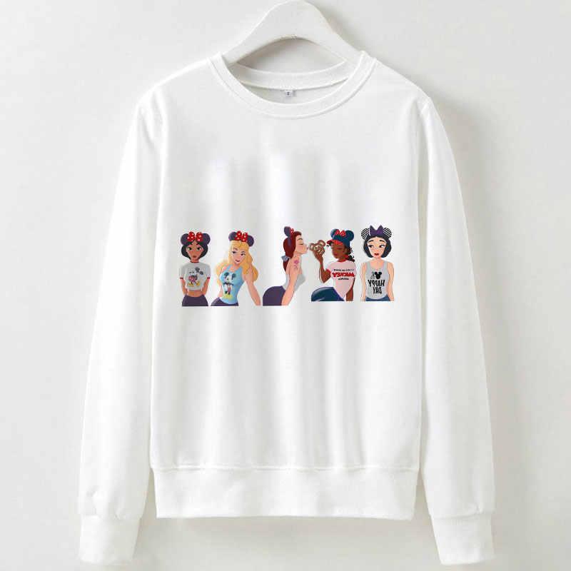 패션 만화 공주 해피 데이 귀여운 여성 한국어 스타일 하라주쿠 거리 의류-긴팔 아름다운 tracksuit 스웨터