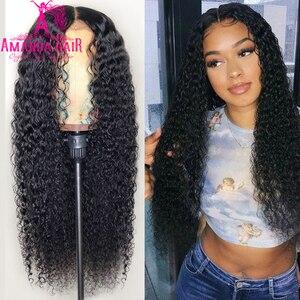 Кудрявые человеческие волосы, 30 дюймов, парик из человеческих волос, бразильские волосы, 4x4, закрытие шнурка, афро, кудрявые, короткий парик д...