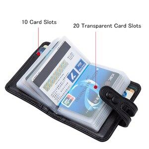 Image 3 - Мужской кошелек BISON DENIM из натуральной воловьей кожи, с отделением для кредитных карт, с ткацким дизайном, Роскошный кошелек для ID паспорта, N9313