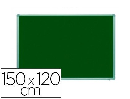 SLATE GREEN ROCADA STEEL GLAZED PAINTED MAGNETIC MARCO ALUMINUM AND CORNER FITTINGS PVC 150X120 CM INCLUDE TRAY