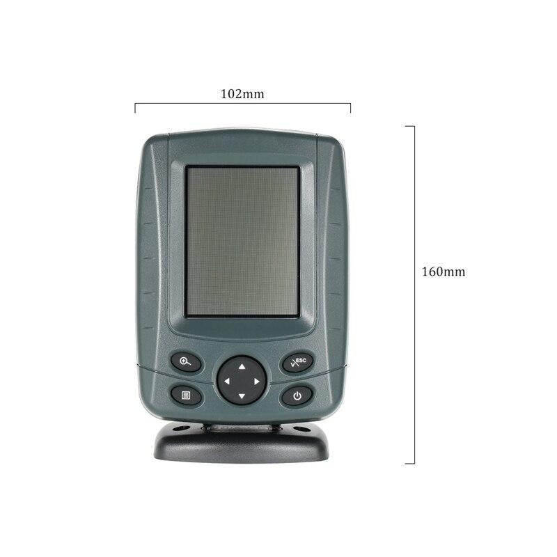 Tragbare Sonar Fisch Finder Boot Finder Echolot 200 KHz/83 KHz Duel Strahl Fisch Detektor Tiefe Locator