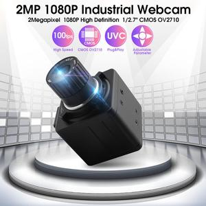 Industrial 1080P hd 30fps /60fps/120fps alta velocidad Cmos ov 2710 4mm lente de enfoque Manual, mini cámara web USB para tableta android