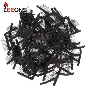 50 sztuk partia peruka grzebienie do tworzenia peruka czapki 7 zęby peruka klipy stalowe grzebienie dla Hairpiece czapki peruka akcesoria narzędzia peruka klipy dla peruka tanie i dobre opinie CN (pochodzenie) 50Pcs
