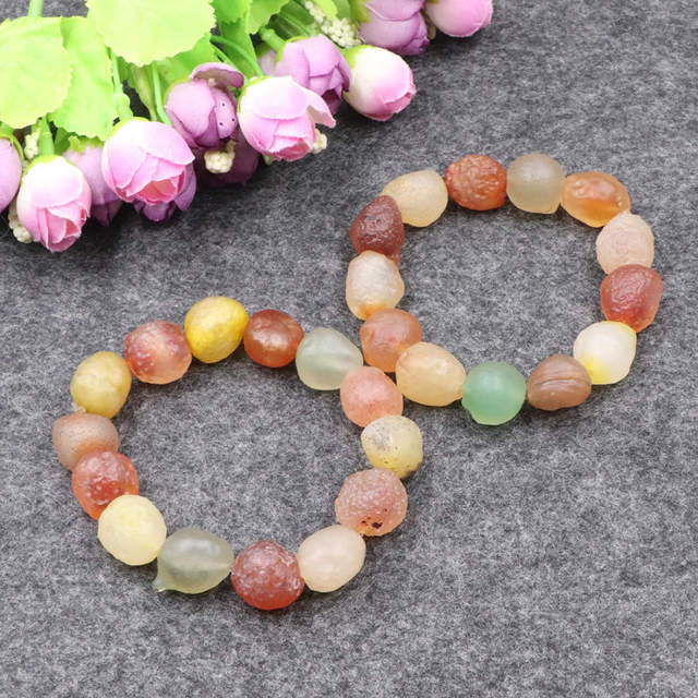 Three Gobi agate bracelets natural candy gobi agates mix