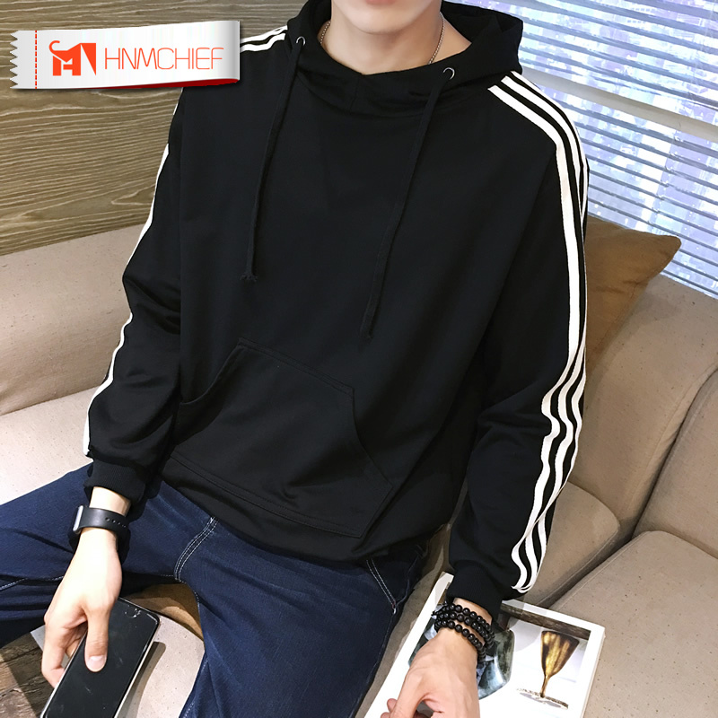 HNMCHIEF Sweatshirt Men NEW Hoodies Brand Male Long Sleeve Solid Hoodie Men Black Red Big Size Poleron Hombre