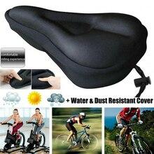Ultra macio silicone gel almofada capa de almofada da bicicleta sela assento mtb mountain bike ciclismo engrossado extra conforto