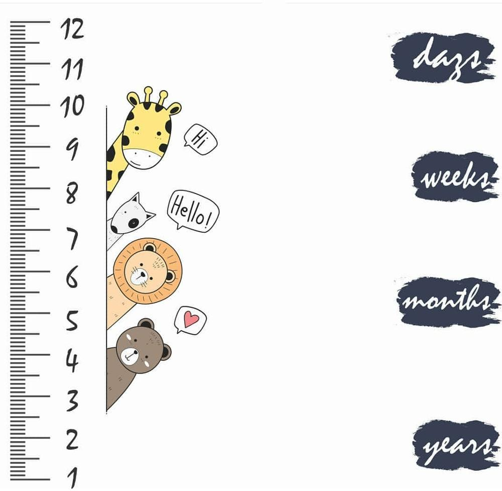 Newborns Baby Milestone Blanket Giraffe Photography Props Memorial Growth Monthly Backdrop Cloth Infant Bebe Photo Accessories