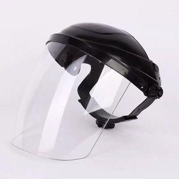 Ochrona przed dymem i śliną maska przeciwpyłowa przezroczysta maska bezpieczeństwa z PVC zapasowa osłona przeciwsłoneczna ochrona twarzy tanie i dobre opinie Specjalne narzędzia Z tworzywa sztucznego Ce ue Splatter ekrany PVC Faces Shield Screen Mask Yellow Clear