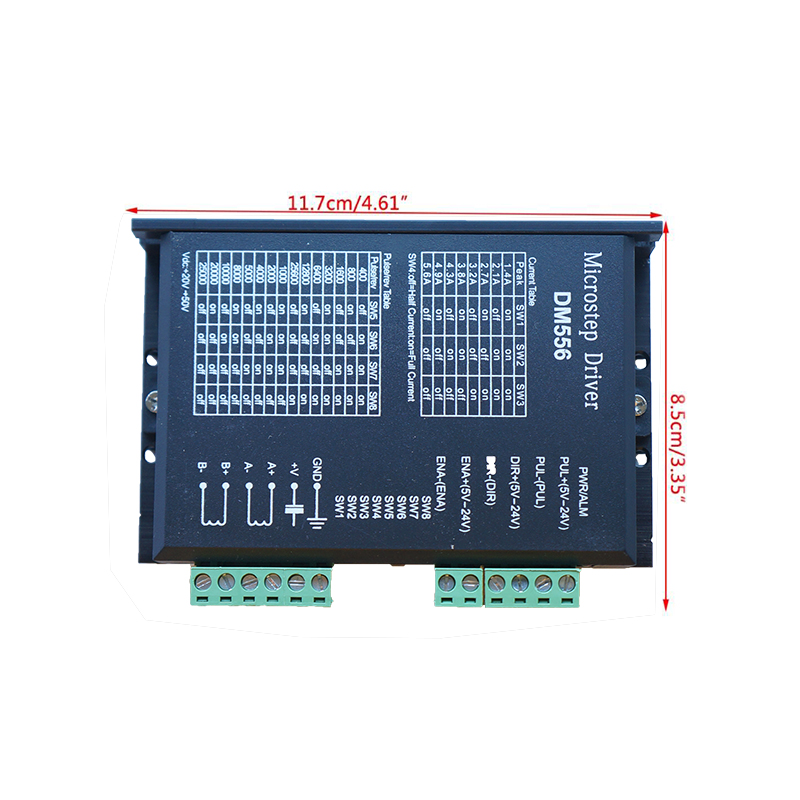 Nema23 42 DM556 Stepper Motor Driver 256 Subdivision 24-50VDC 4.5A 2-phase Digital Stepper Motor Driver For Cnc Machine