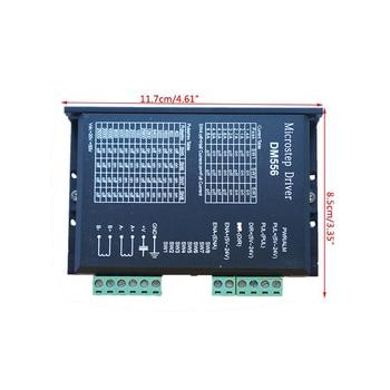 Nema23 42 DM556 stepper motor driver 256 subdivision 24-50VDC 4.5A 2-phase digital stepper motor driver for cnc machine 2dm442 2 phase nema23 nema17 stepper motor driver dc24 48v 1 0 4 2a jmc