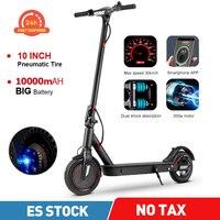Patinete eléctrico para adultos, Scooter de 10Ah, 36V, 350W, 30km/hora, con kilometraje de 45km, plegable y rápido, tres modos de conducción, carga máxima de 120kg