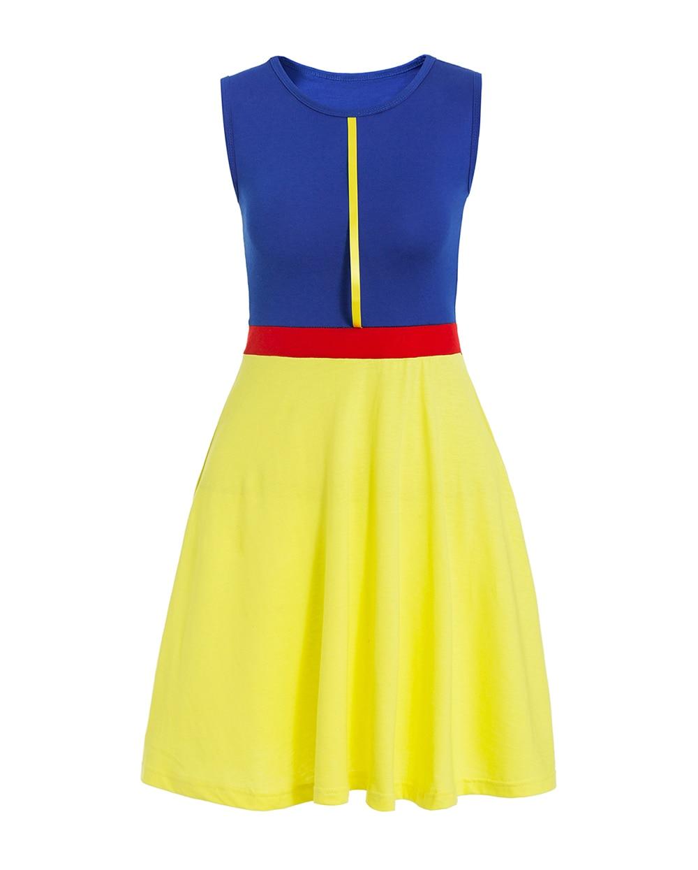 Платье принцессы для взрослых; одинаковый семейный маскарадный костюм «Минни Маус и я»; женское платье принцессы в горошек; большие размеры - Цвет: snow white