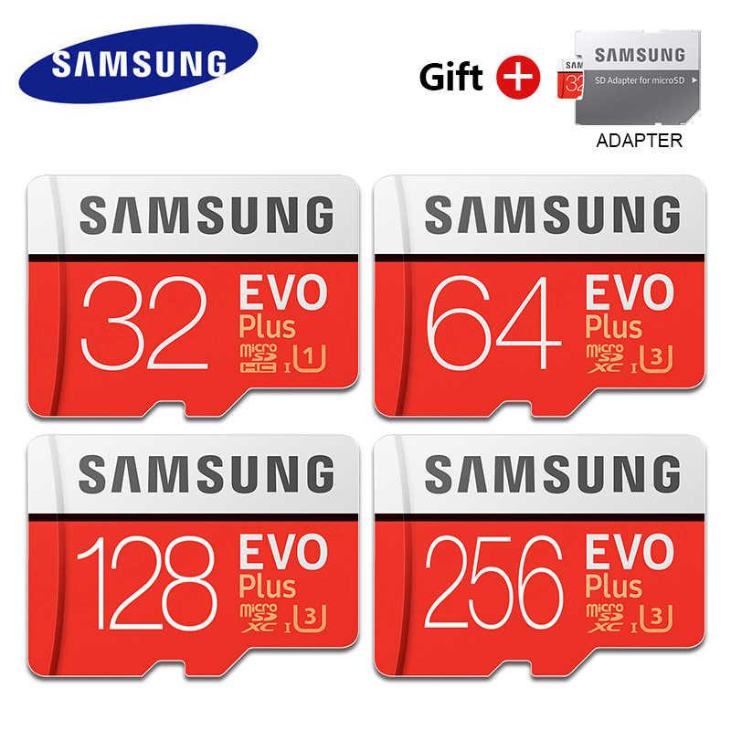 Оригинальный samsung Класс EVO + карта памяти класса 10 32GB 64GB 128GB карта Micro SD карта 256 ГБ SDHC/SDXC C10 UHS TF карты Модуль памяти TransFlash