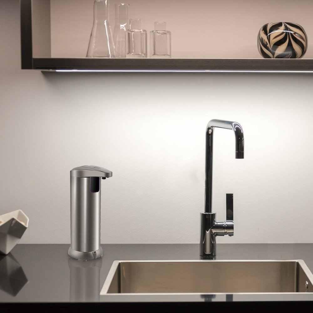 300ml אוטומטי נוזל סבון Dispenser נירוסטה חיישן סבון Dispenser משאבת מקלחת שמפו סבון בקבוק לאמבטיה מטבח