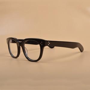 Image 3 - New Johnny Depp Glasses Men Women Optical Glasses Frame Brand design Computer Transparent Eyeglass Acetate Vintage Q321 2