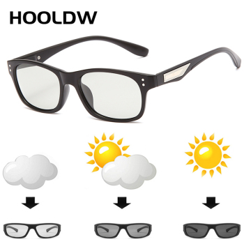 HOOLDW Photochromic Sunglasses Men Women Polarized Chameleon Glasses Anti-glare Goggles Driving Sun Glasses UV400 Gafas De Sol
