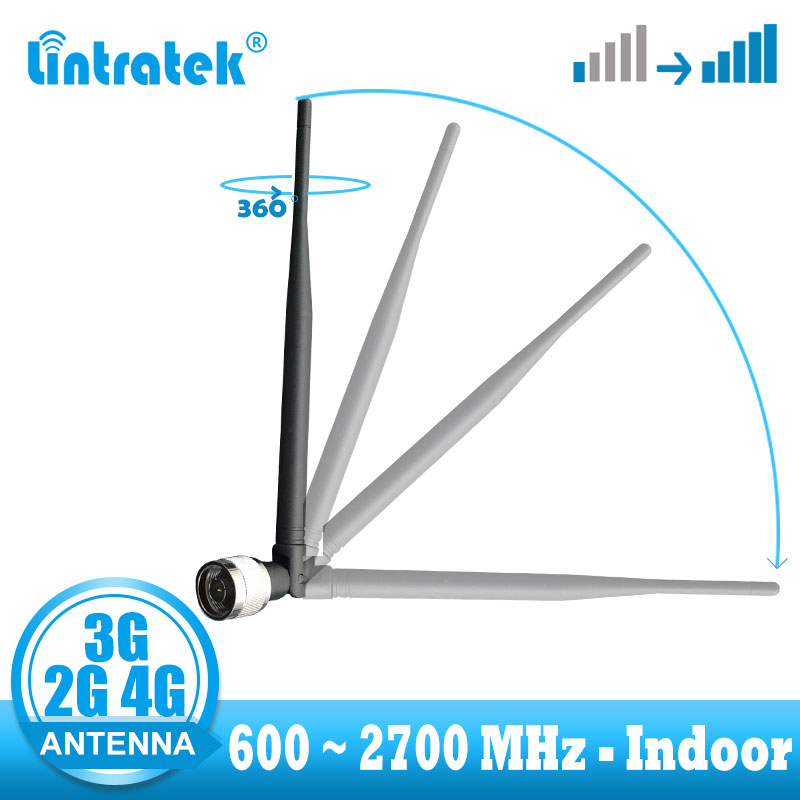 Lintratek GSM 2G 3G 4G Antenna 600~2700mhz Indoor Antenna For Cellphone Signal Booster Amplifier Easy Install Repeater Antenna