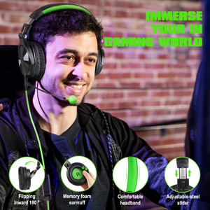 Image 4 - Oneodio Wired Stereo Gaming Headphones Call Center Office Headset With Noise Cancelling Microphone Studio DJ Headphone Green