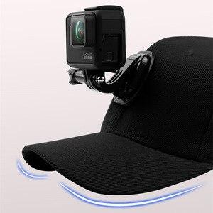 Image 5 - قماش قبعات بيسبول قبعة ل Gopro بطل 7 6 5 الأسود Dji Osmo J هوك مشبك جبل ل شاومي يي الذهاب برو 7 8 Sjcam Eken اكسسوارات