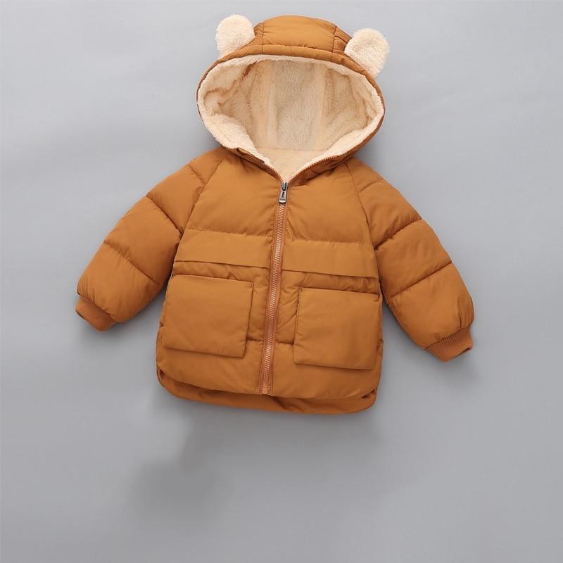 CROAL CHERIE Girls Coat Kids Winter Jacket For Boys Warm Fleece Boys Clothes Children Parkas Velvet Outerwear 90-130cm (7)