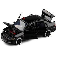 MITSUBISHI LANCER EVOLUTION modèle haute simulation, jouet de voiture en alliage 1:32, 6 portes ouvertes, vente en gros, offre spéciale