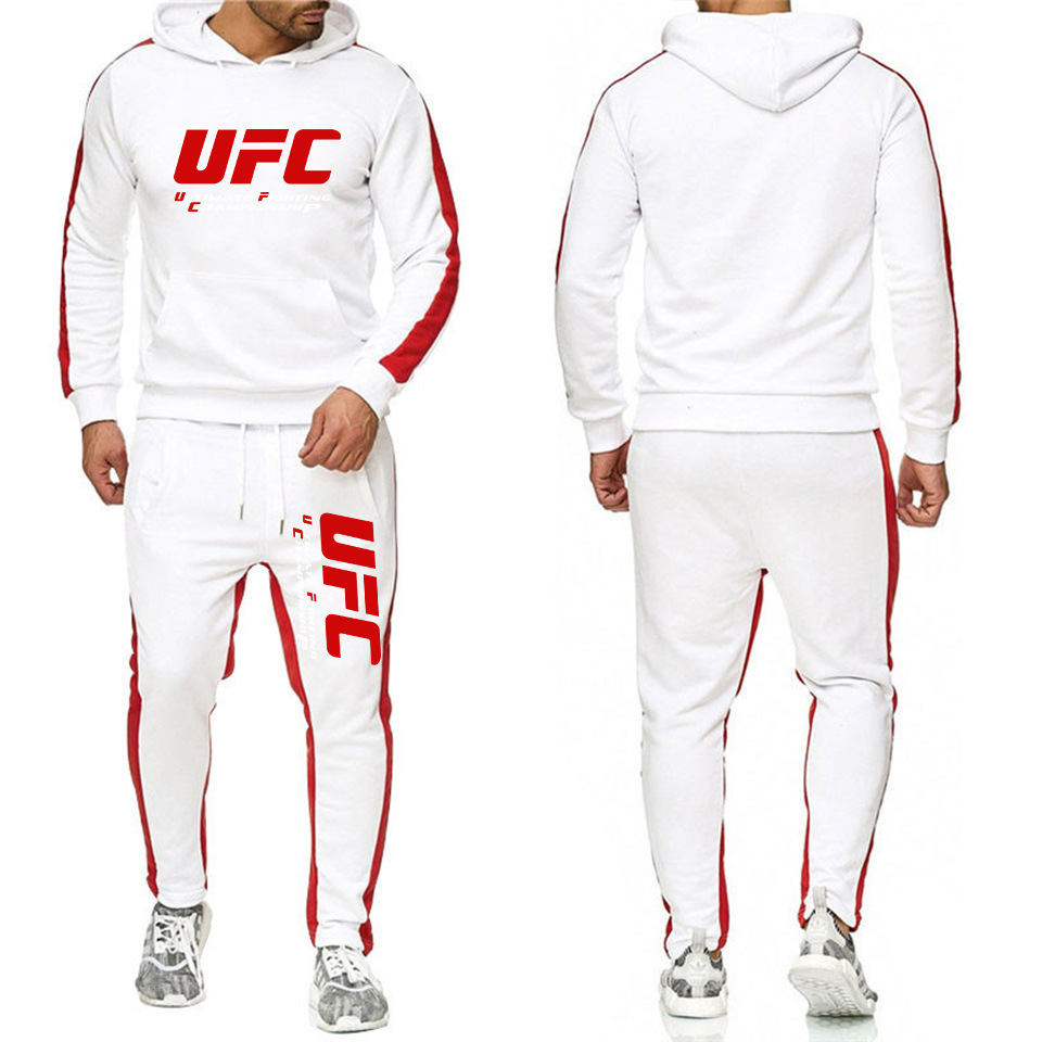 UFC Fighting Fitness Striped Suit Men And Women Fashion Fighting Set Men's Fitness Sports Clothing Set