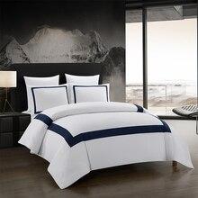 Yimeis Bettwäsche Set Geometrische Bettwäsche Set Nähte Tröster Bettwäsche Doppelbett Luxus BE45005