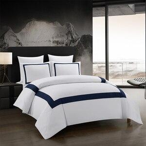 Image 1 - Yimeis ensemble de linge de lit géométrique, pour lit Double, couette, luxe, BE45005